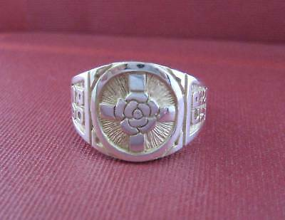 Solid silver Rosicrucian ring - 23752