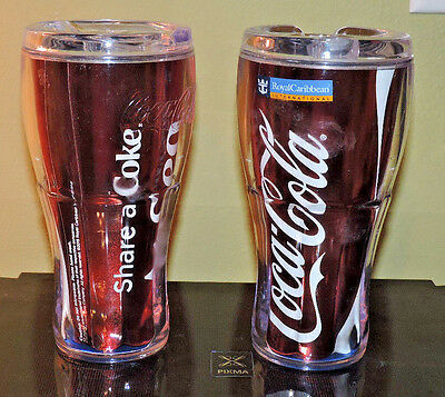 ���� Lot of 2 ���� Royal Caribbean Cruise Coca-Cola RED CUP THERMOS CUP AT SEA