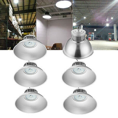 6x 100W LED High Bay Light Lighting Lamp Factory Warehouse Industry Shed Light