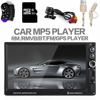 "7"" HD 2 DIN Car MP5 Radio Player Bluetooth SAT FM GPS NAV USB/TF/AUX+Camera+MAP"