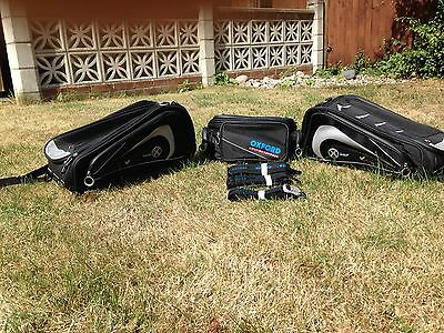 Oxford Lifetime X50 panniers & X40 expandable tail pack motorcycle luggage