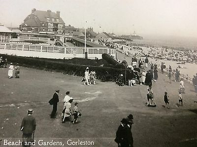 Vintage Rppc View Of Busy Beach And Gardens Gorleston Great Yarmouth Charanbac