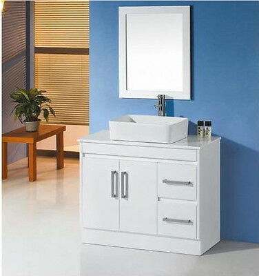 Vanity Bathroom 900Mm Unit With Mirror And Free Faucet