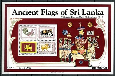 SRI LANKA 2010 Block 13 I  Flaggen Aufdruck Colombo ** MNH RAR