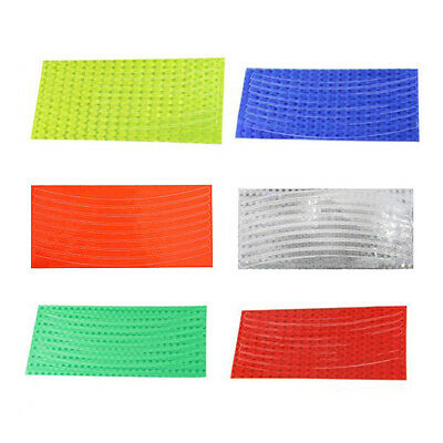 Fluorescent Bike Cycling Wheel Tire Rim Reflective Stickers Tape 6 Colors Safety