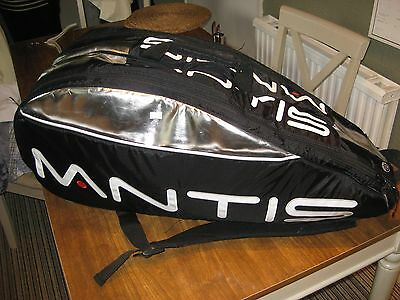 Mantis Tennis Thermo Racket Bag - Black / Red, Black / Silver - 6