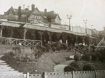 Antique Pc View Of The West Cliff Shelter Felixstowe Suffolk George Wootton 1905