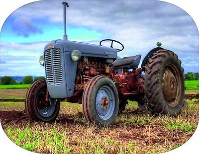 VINTAGE GREY FERGIE TRACTOR printed on a mousemat T20 Ferguson