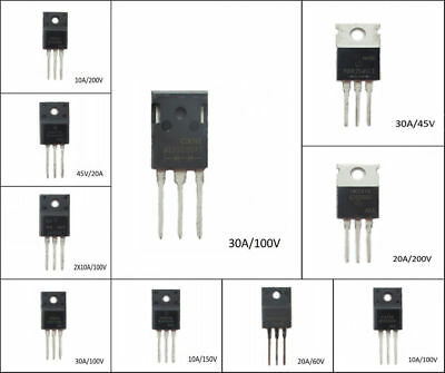 3-Pin TO-220 TO-247 MBRF10200CT MBR20200CT MBR30100PT MBR Series Schottky Diodes