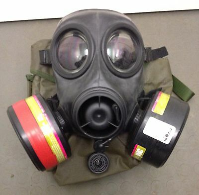 FM12 Twin Filter Respirator Mask SAS UKSF Special Forces Size 2 Prepper CTW RARE