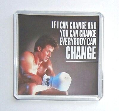 Rocky IV quote Ain't Nothing Over Sylvester Stallone movie poster fridge magnet
