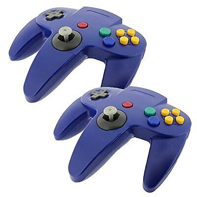 2 PCS New Long Controller Game System For Nintendo 64 N64 Blue Brand New 5Z