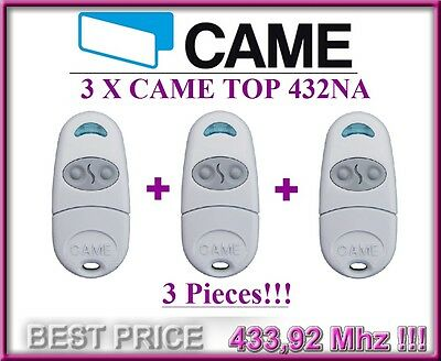 3 X CAME TOP432NA remote controls, 433,92Mhz 2-channel key fobs. 3 pieces!!!