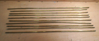 Bundle of 10 Vintage Brass Stair Carpet Rods