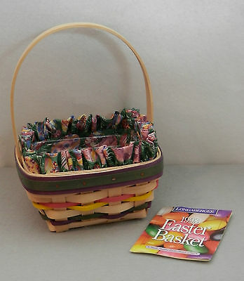 Longaberger 1998 Natural Small  Easter Basket Combo - Perfect
