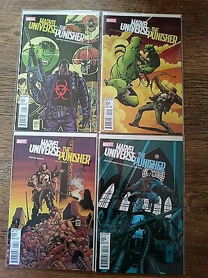 MARVEL UNIVERSE VS THE PUNISHER full set 1 2 3 4 NM (ZOMBIES)