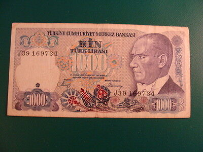 Turkey 1000 Lira 1986