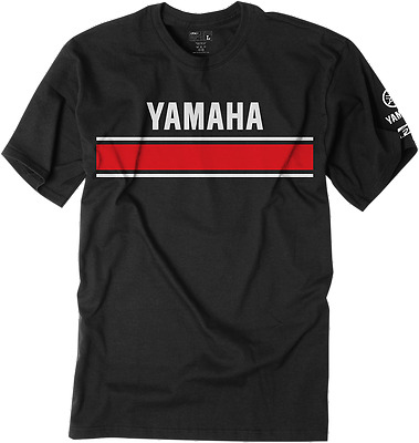 FACTORY EFFEX-APPAREL Adult Mens Yamaha Retro Short Sleeve T-Shirt Black Md