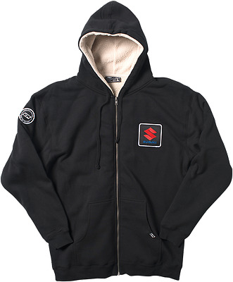 FACTORY EFFEX-APPAREL Mens Adult Suzuki Sherpa Hoodie Md