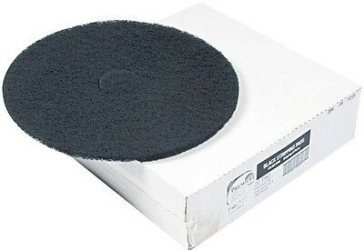 Premiere Pads 12 in. Standard Stripping Black Floor Pads Case of 5 Pad Premiere