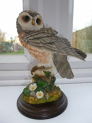 LARGE COUNTRY ARTISTS LITTLE OWL FIGURINE no.01114 ISSUED 1998 ornament