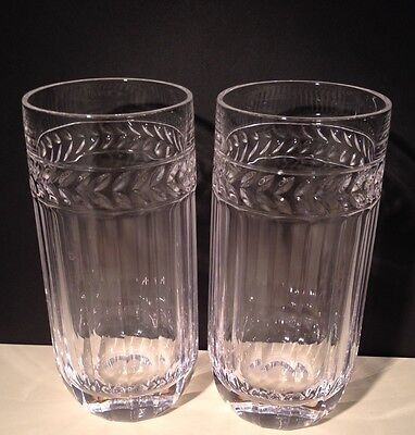 Pair Villeroy & Boch Crystal Miss Desiree Tumblers
