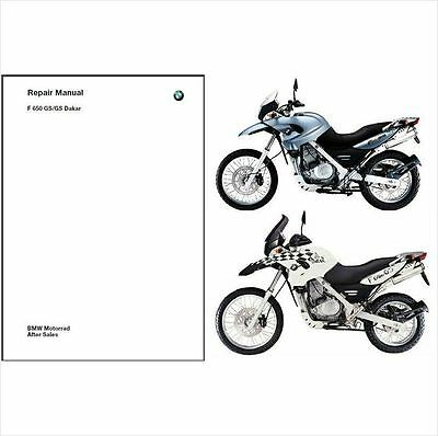 2000-2007 BMW F650GS / Dakar RepROM Service Repair Manual CD  --  Multilingual