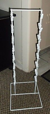 Chip Clip Rack Counter top Display Two Sided 32 Spring Clips White Unbranded New