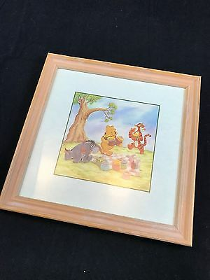 Disney Classic Winnie the Pooh & Friends Framed Small Wall Art for Baby Nursery