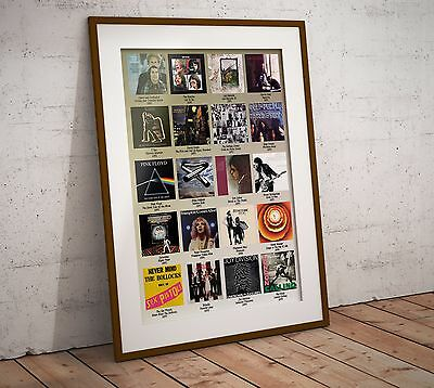 The Best Selling Albums of The 1970's Two Sizes Print Poster NEW Exclusive