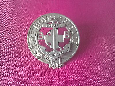 Boys Brigade: Vintage Large Silver Coloured Cap Badge With Split Pin