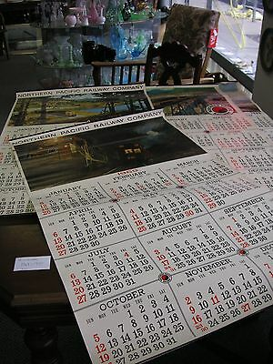4 Lge Northern Pacific Calendars 1967-70 Sold in AS/IS CONDITION SEE THE PHOTOS.