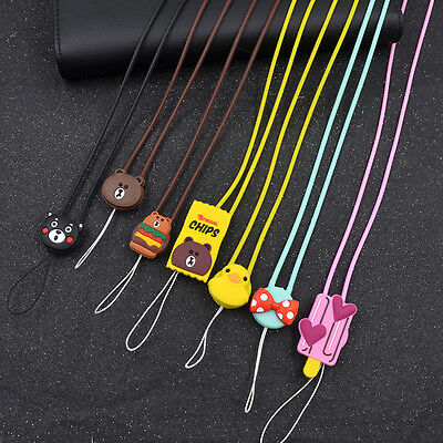 Silicone Cartoon Pendant Neck Strap Lanyard for Cell Phone ID Badge Holder
