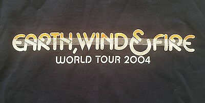 Earth Wind and Fire 2004 Concert T-Shirt - Large - Navy Blue - Funk, Soul