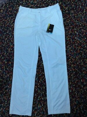 Nike Ladies Golf Trousers Size 8 White
