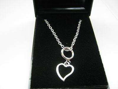 "Joblot 10 x Heart Pendant  & Silver Plated 24"" Cable Chain Necklaces & Gift Boxs"