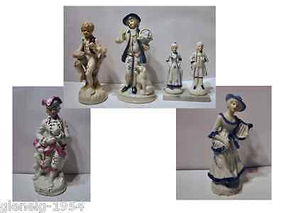 Figurine Collection of 6 Porcelain ornaments