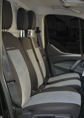 Seat covers for Nissan Primastar 2001 - 2014 Tailored seat covers 2 + 1 grey2