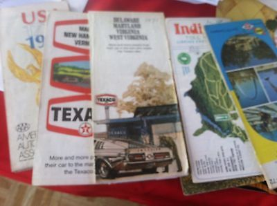 vintage road maps gas station related