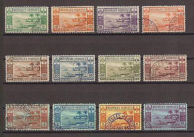 NEW HEBRIDES 1938 F53/64 Fine Used Cat £350
