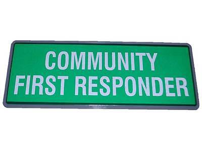 COMMUNITY FIRST RESPONDER Reflective Badge SMALL No Hook & Loop Paramedic Medic