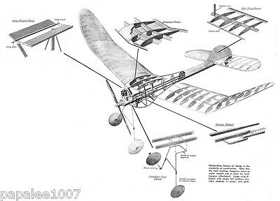 Model Airplane Plans (FF): Vintage WESTERNER 7' Class 'C' by Don Foote (1941)