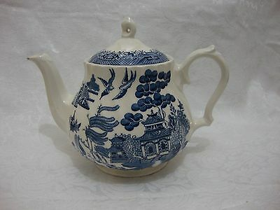 Royal Wessex Blue & White Willow Pattern Large Teapot
