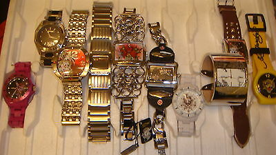 Trade Only Job Lot Of 10 X   Mixed  Ed-Hardy Watches 100% Gen...