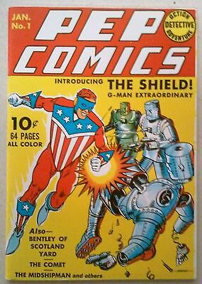 Flashback #7 : Reprint of Pep Comics #1 (1940) Dynapubs Fine/Very Fine Condition