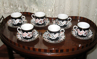 Vintage : A novelty Coffee Set by Tiffany and Co - Card Players