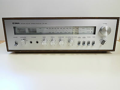Yamaha CR-450 Vintage Natural Sound Stereo Amplifier Wood casing AS IS