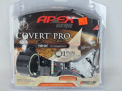Apex Gear Covert Pro Single Pin Sight Green Power Dot Black Hunting target
