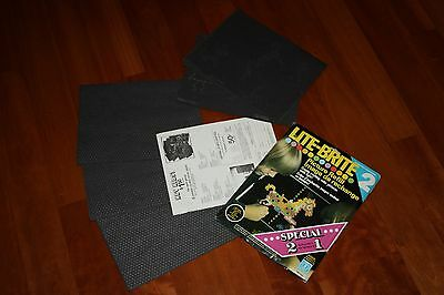 Vintage 12 LITE BRITE picture refills & 24 build your own pages - opened/unused