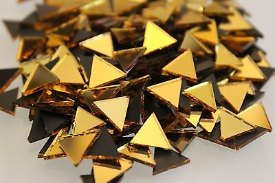 Mosaic Triangular Gold Mirror Tiles (Approximately-10mm ) 1.6 mm thick,  100 pcs